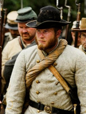 Philip Brown dressed in period clothing during a reenactment much like he will be dressed during his 166 mile walk.