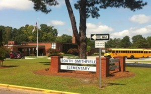 South Smithfield Elementary Sign
