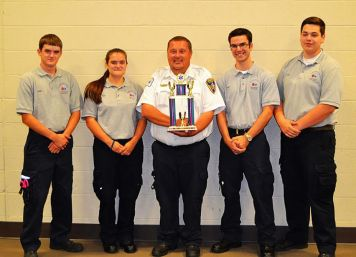 Left to right: Taylor Twigg, Tanna Twigg, Jamie Jackson (Cadet Advisor), Christian Hughes and Zack Carrothers.