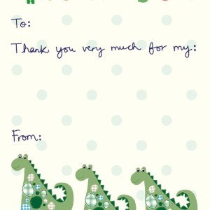 Children's Thank You Packs - 8 glittered postcards with envelopes - £3.99