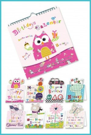 Birthdays Calendars with 8 greetings cards - £12.99