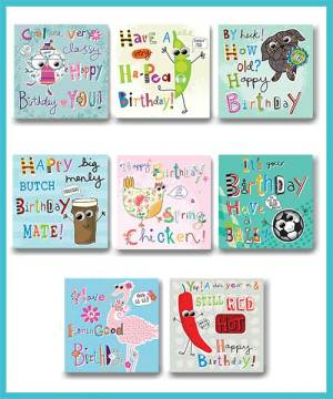 General Birthday Packs of 8 assorted greetings cards - £7.99