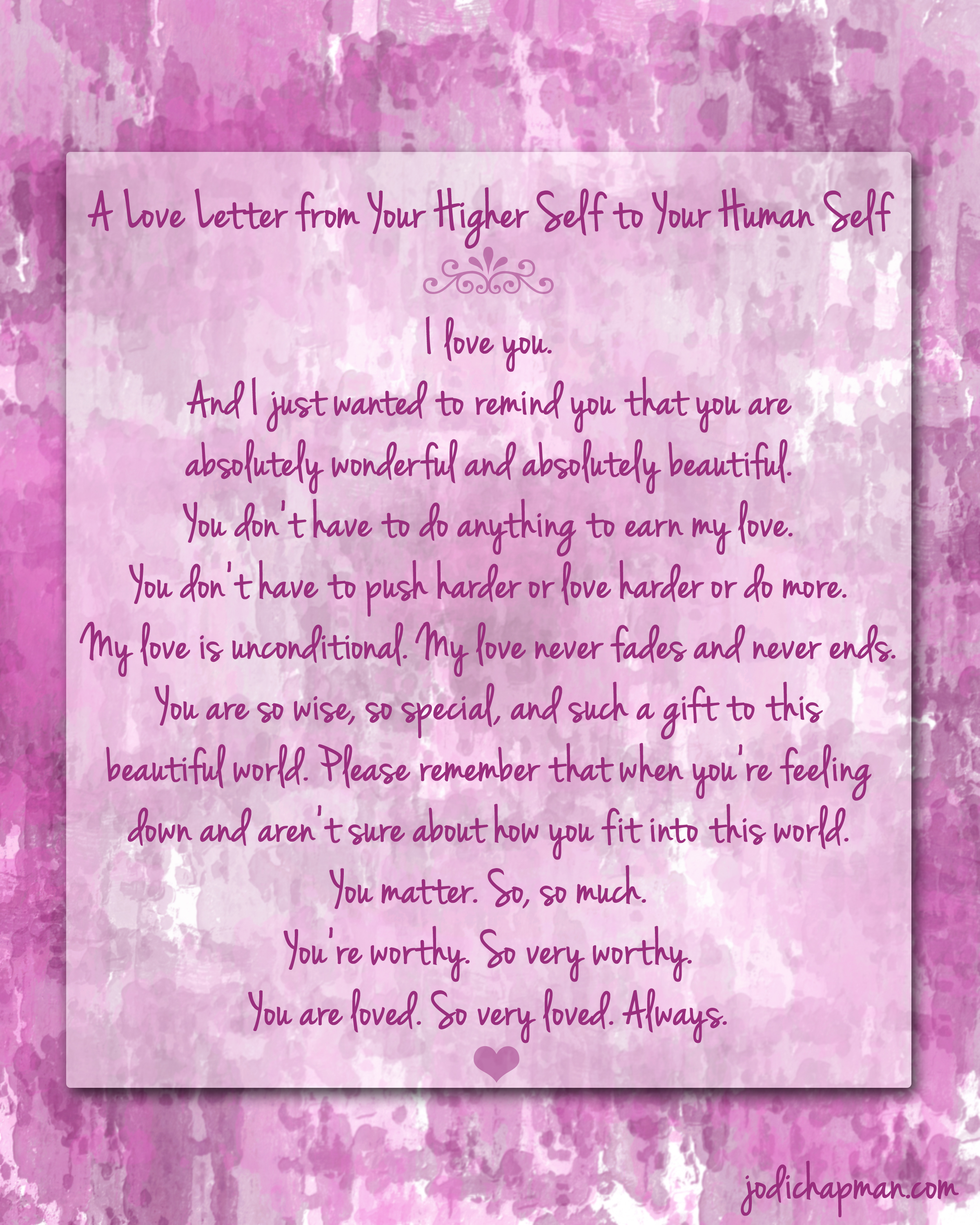 A Love Letter To You