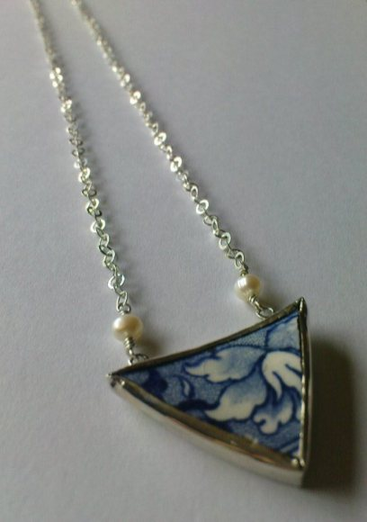 Pottery Shard, set in silver