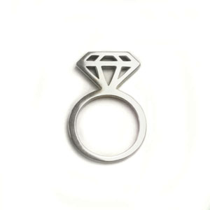 Diamond Silhouette Ring by Carrie Weston
