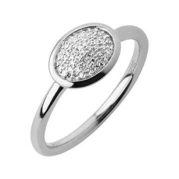 Diamond Oval Pave Ring by Links of London