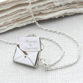 Personalised Sterling Silver Secret Letter Necklace by Hurley Burley