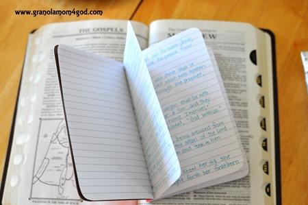 bible journal #writetheword