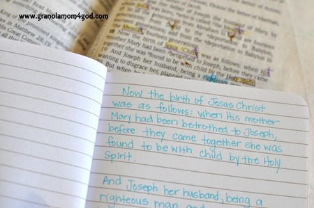 #writetheword Matthew Christmas