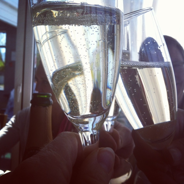 Toasting with champage