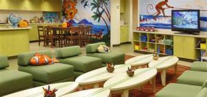 Hawaiian theme kids club