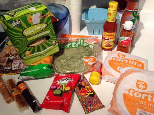 Mexican food souveniers