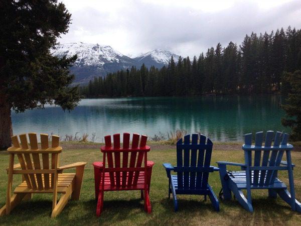 Adirondack chairs lakeside