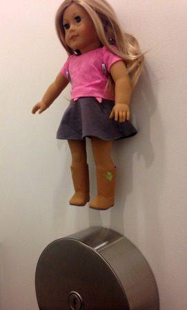 American Girl Doll bathroom holder