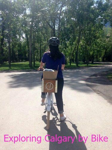 biking prince's island bike