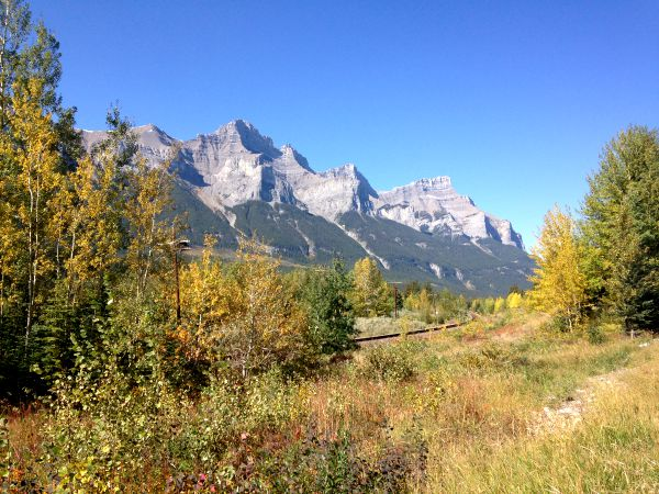 Cycling the Banff to Canmore Legacy Trail with kids