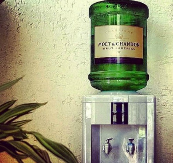 moet and chandon water cooler
