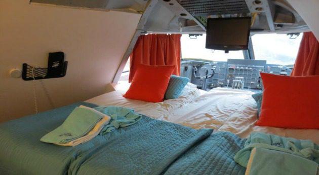 hotel inside airplane