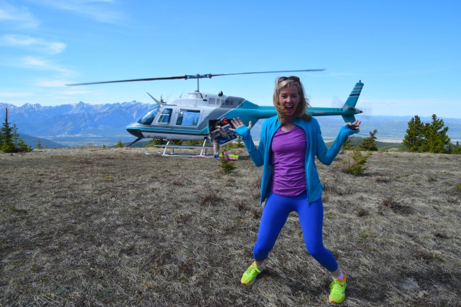 Forget heli-hiking! Heli-yoga is the latest way to get grounded.