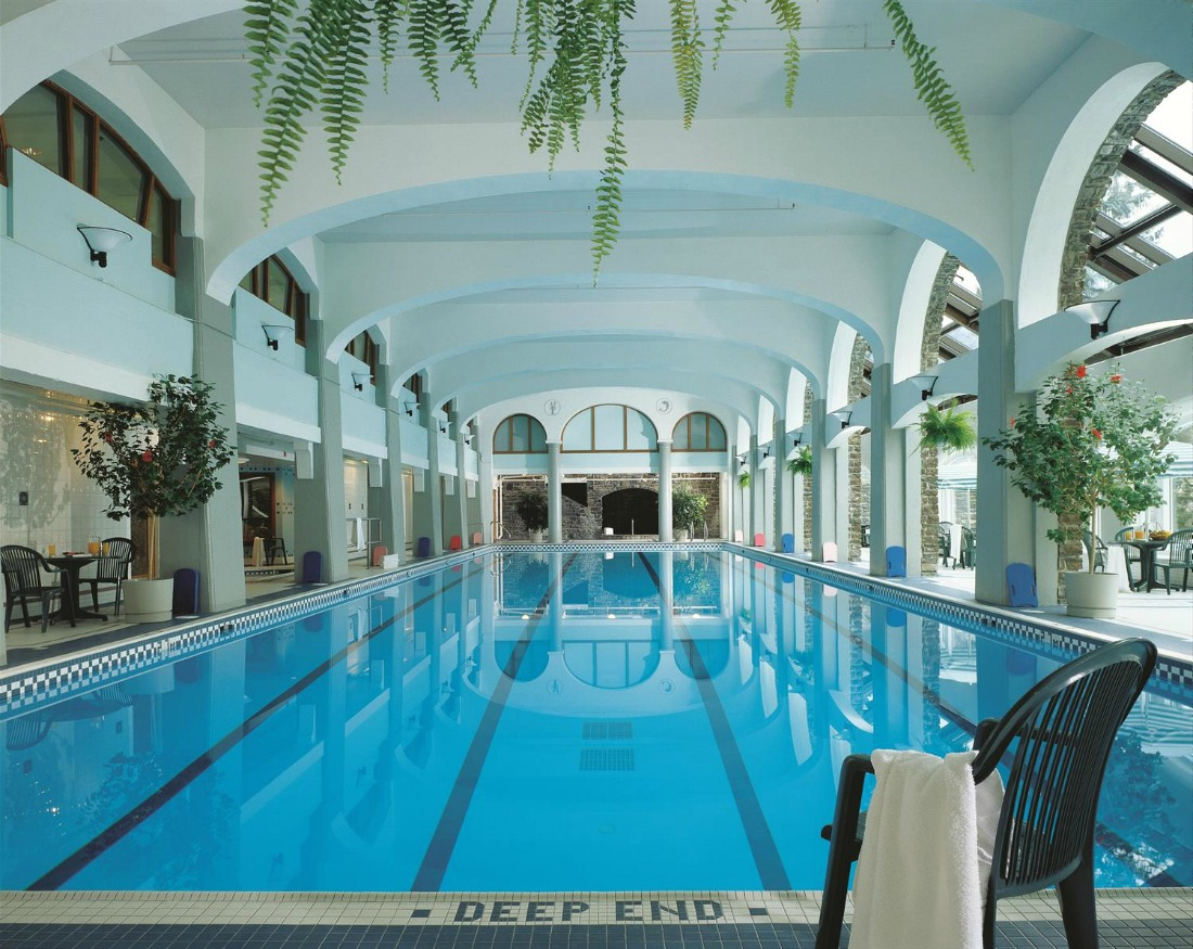 european inspired pool Banff Springs