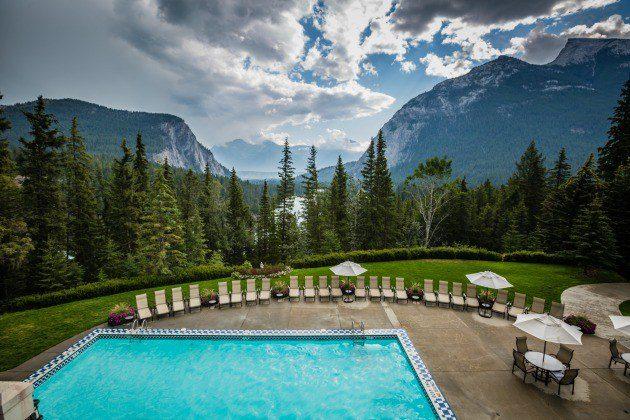 outdoor heated pool banff springs hotel