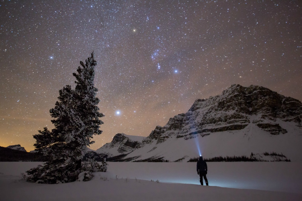 night sky in winter