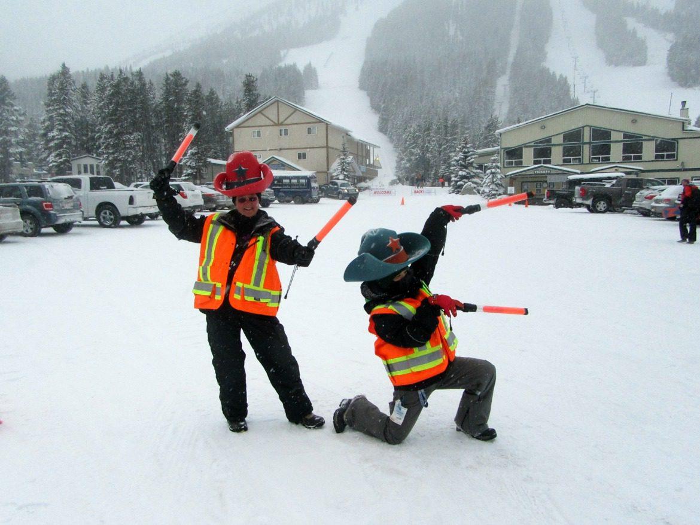 ski hill parking
