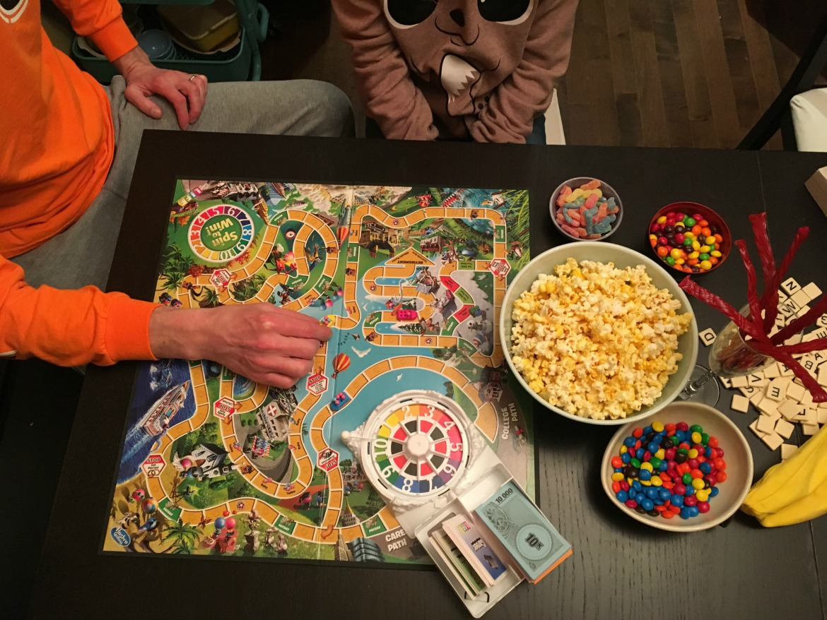 junk food and board games