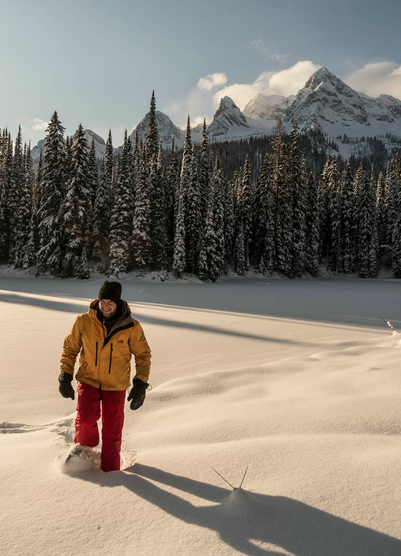 backcountry snowshoeing winter