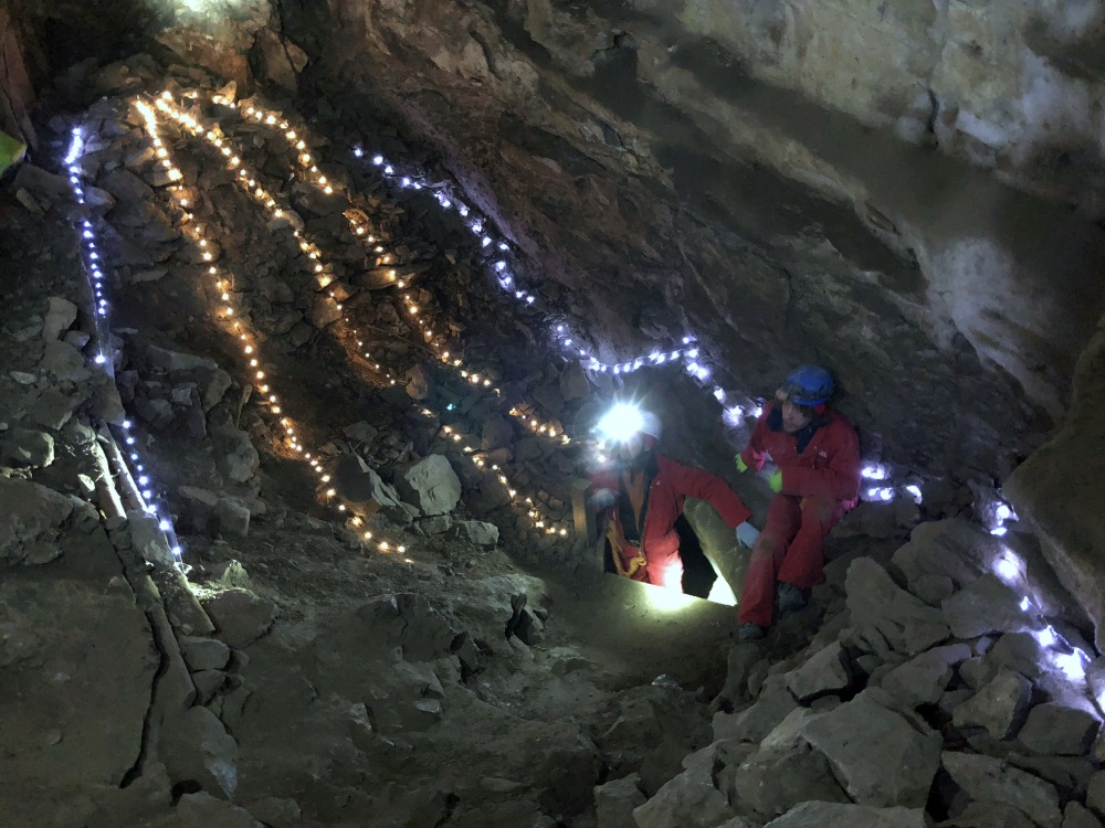 christmas cave tour