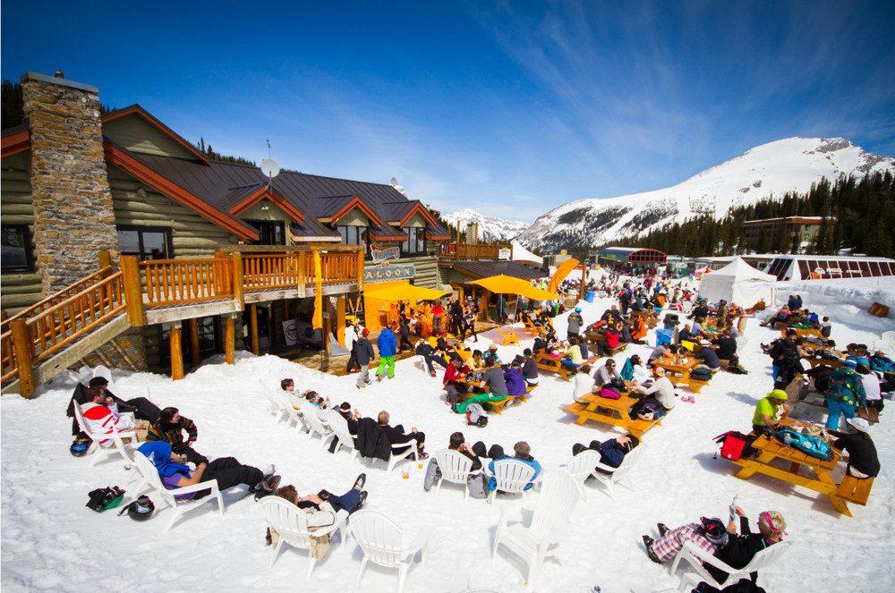 ski resort beer gardens
