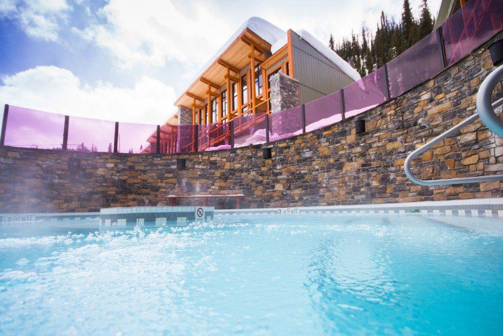 ski resort hot tub