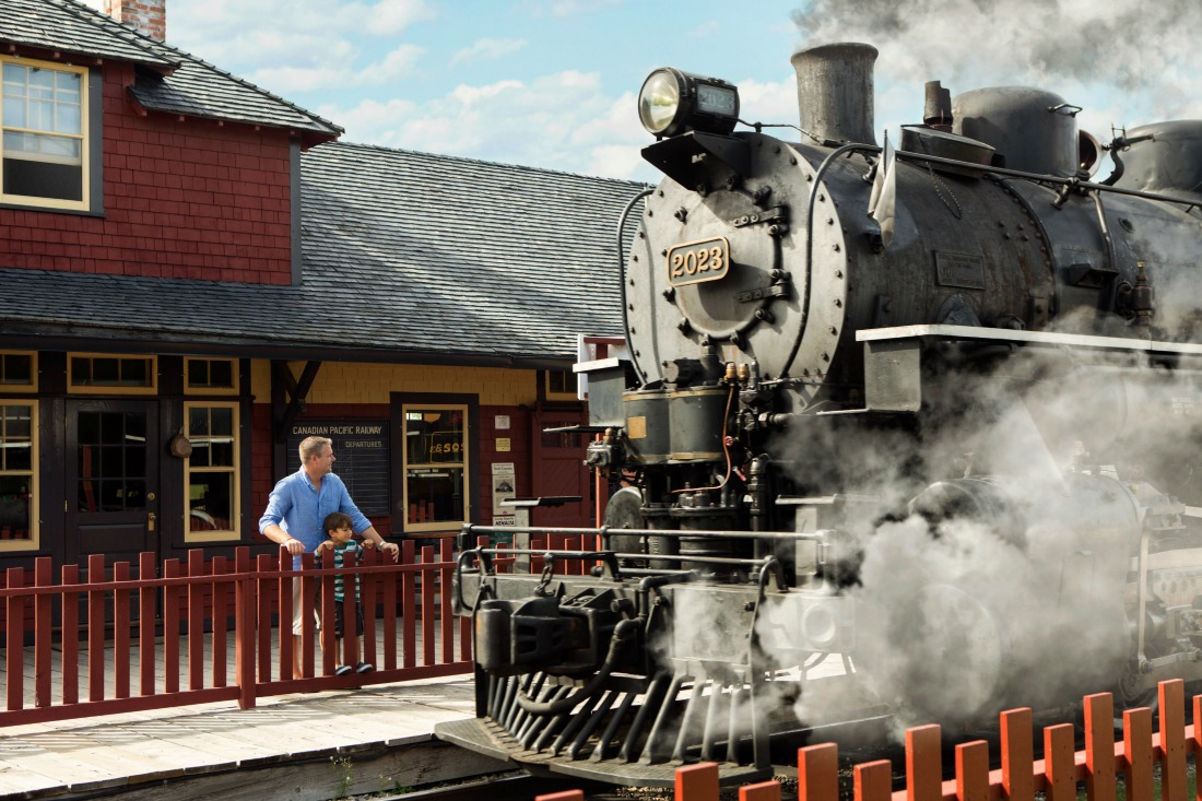 old fashioned steam train