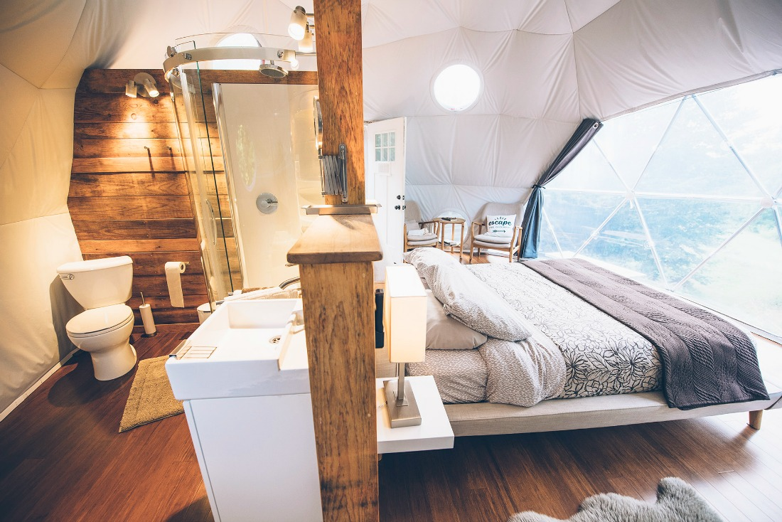 ridgeback lodge glamping dome