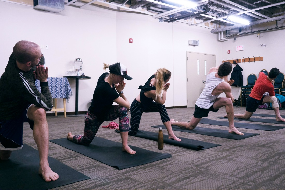 yoga classes sunshine village