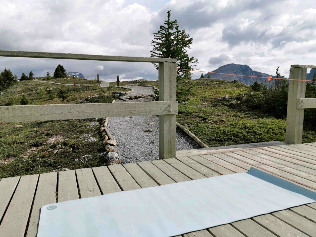 Banff yoga and barre in the mountains