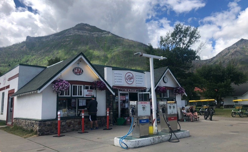 Pat's Waterton gas station