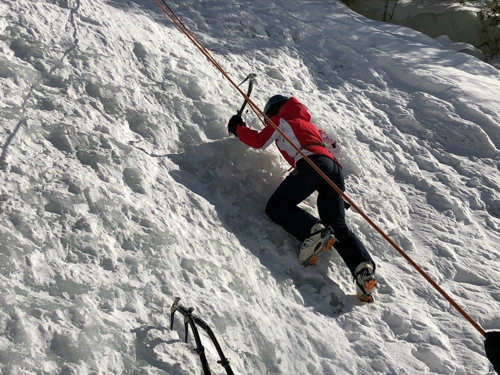 ice climbing Mt. Tremblant