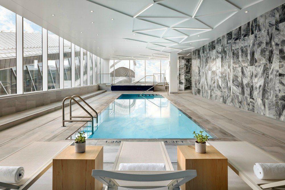 JW Marriott pool Edmonton