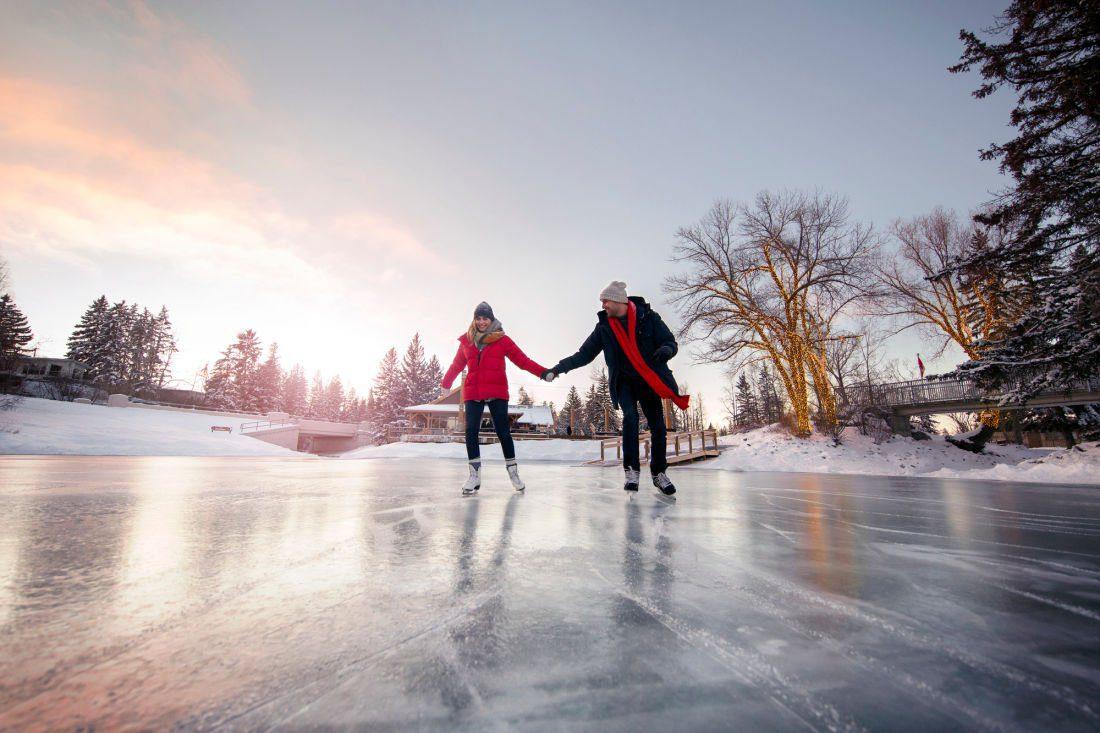 ice skating in Calgary