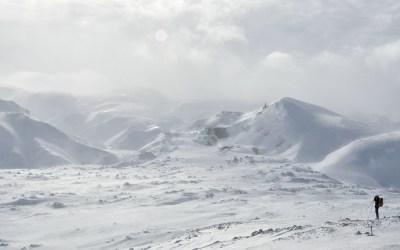 Landmannalaugar in de sneeuw, IJsland, 2011