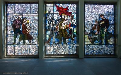 Museumgebouw bij Concentratiekamp Sachsenhausen, Sachsenhausen, Duitsland, 18-5-2016