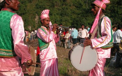Feest in Rumpo, Sikkim, India, 2009