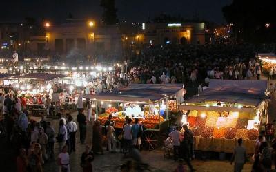 El jemaa el-Fna plein, Marrakech, Marokko, 2006