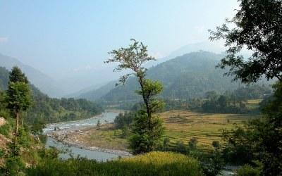 Langs de rivier Burhi Gandaki, Manaslu Trek, Nepald, 2006