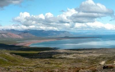 IJsland, vanaf Snaefellnessjoküll richting kust