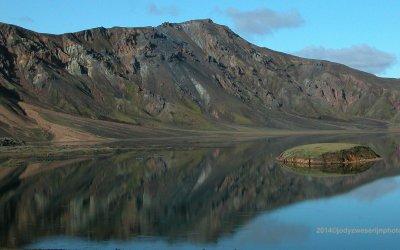 IJsland, in de buurt van de Eldgjá-kloof