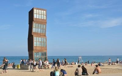Barcelona, kunst aan het strand van Barceloneta