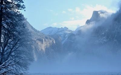 USA - Yosemite NP, Cooks Meadow richting Half Dome
