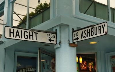 Haight and Ashbury Street, San Francisco, USA, 2011